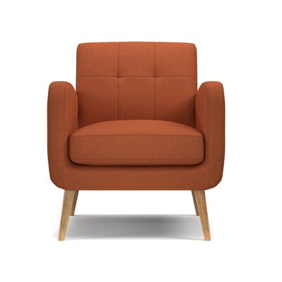 Valmy Armchair Color: Orange