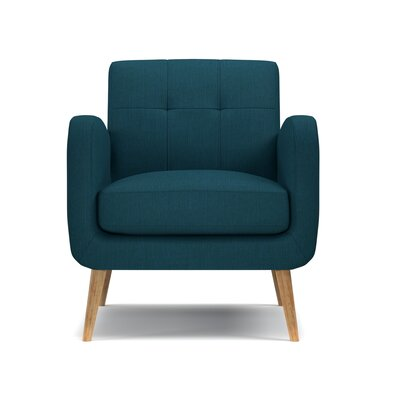 Valmy Arm Chair Color: Peacock Blue