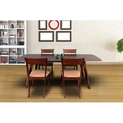 Norloti 5 Piece Dining Set Upholstery: Sand