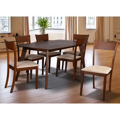 Roosevelt 7 Piece Dining Set Upholstery: Sand