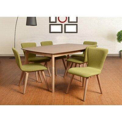 Norloti 7 Piece Dining Set Upholstery: Green