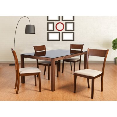 Roosevelt 5 Piece Rectangular Dining Set Upholstery: Sand