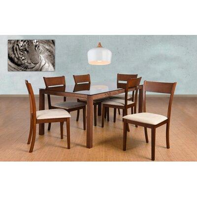 Roosevelt 7 Piece Rectangular Dining Set Upholstery: Sand
