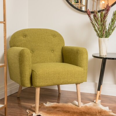 Hartford Arm Chair Color: Green