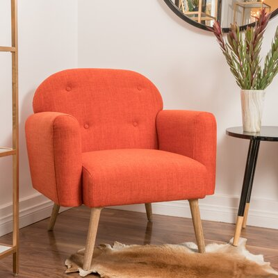 Hartford Arm Chair Color: Orange