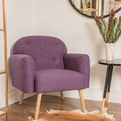 Hartford Arm Chair Color: Purple