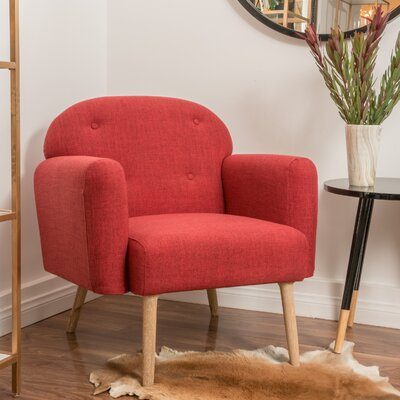 Hartford Armchair Color: Red