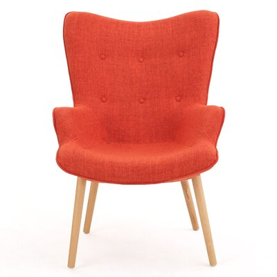 Columbus Arm Chair Color: Orange