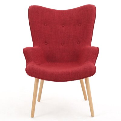 Columbus Armchair Upholstery: Red