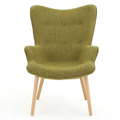 Columbus Arm Chair Upholstery: Green