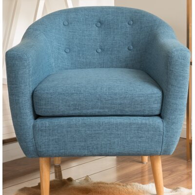Naperville Barrel Chair Upholstery: Blue