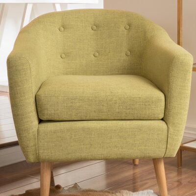 Naperville Barrel Chair Upholstery: Green