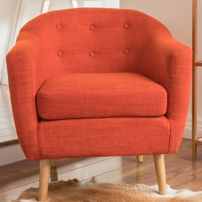 Naperville Barrel Chair Upholstery: Orange