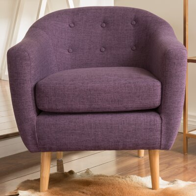Naperville Barrel Chair Color: Purple