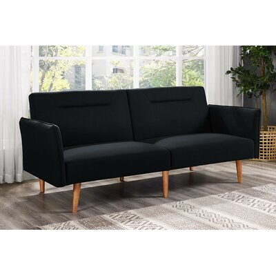 Fresno Convertible Sofa Finish: Black