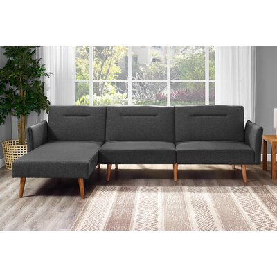 Fresno Reversible Sectional Upholstery: Gray