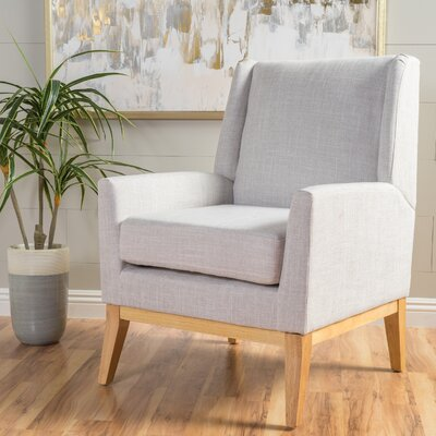 Hierry Wingback Armchair Upholstery: Beige