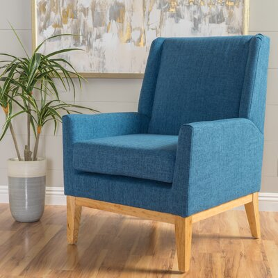 Hierry Wingback Armchair Upholstery: Blue