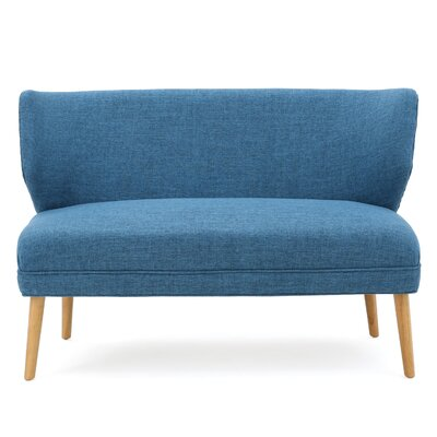 Raleigh Fabric Settee Upholstery: Blue