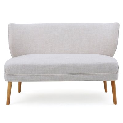 Raleigh Fabric Settee Color: Beige
