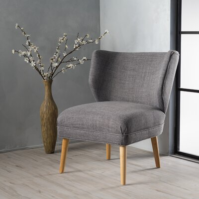 Raleigh Slipper Chair Upholstery: Light Gray