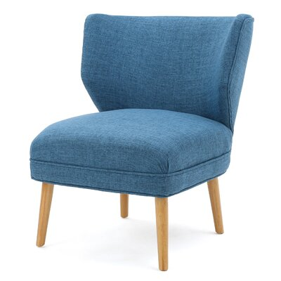 Raleigh Slipper Chair Color: Blue