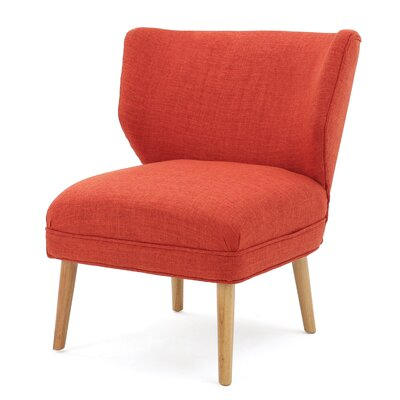 Raleigh Slipper Chair Upholstery: Orange