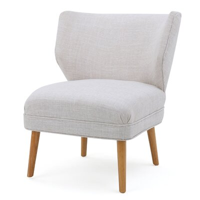 Raleigh Slipper Chair Upholstery: Beige