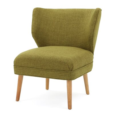 Raleigh Slipper Chair Color: Green