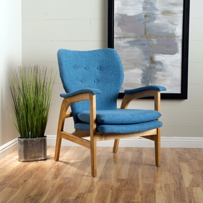 Palmdale Club Chair Color: Blue