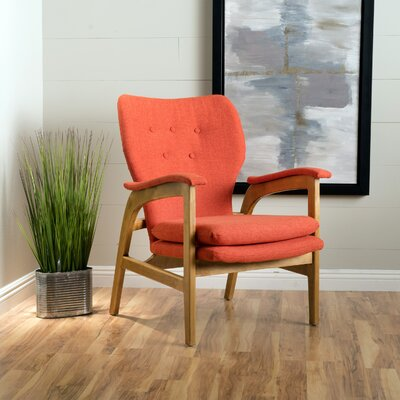 Palmdale Armchair Upholstery: Orange