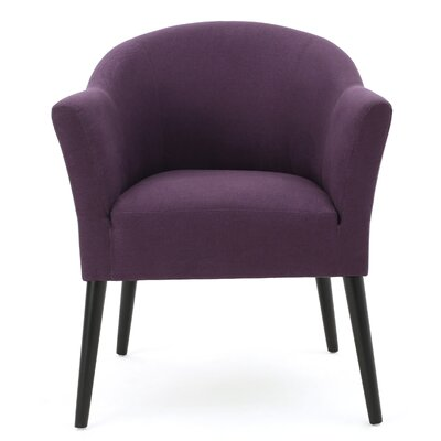 Magnus Fabric Barrel Chair Upholstery Color: Plum