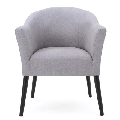 Magnus Barrel Chair Upholstery: Light Gray