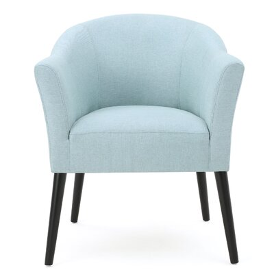 Magnus Barrel Chair Upholstery: Light Blue