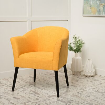 Magnus Fabric Barrel Chair Upholstery Color: Orange