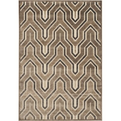 Ery Camel/Cream Area Rug Rug Size: Rectangle 53 x 76