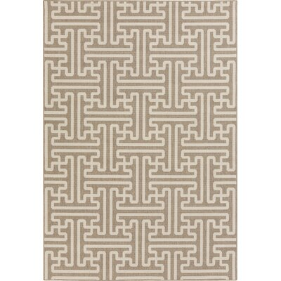 Delaney Camel / Cream Outdoor Area Rug Rug Size: Rectangle 89 x 129