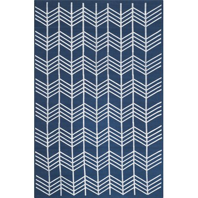 Tyrel Navy Area Rug Rug Size: Rectangle 5 x 8