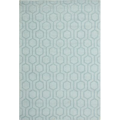 Ogden Hand-Woven Light Blue Area Rug Rug Size: Rectangle 5 x 76