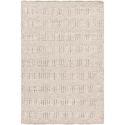 Cortlandville Hand-Loomed Khaki Area Rug Rug size: Rectangle 8 x 10