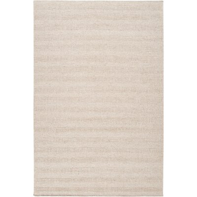 Cortlandville Hand-Loomed Khaki Area Rug Rug size: Rectangle 5 x 8