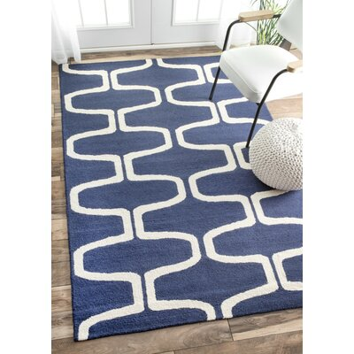 Hayward Hand-Tufted Navy Area Rug Rug Size: Rectangle 76 x 96