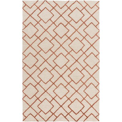 Berkeley Khaki/Beige Area Rug Rug Size: Rectangle 4 x 6