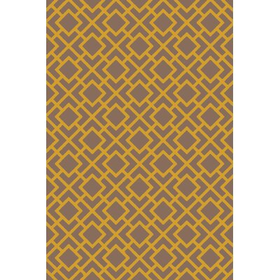 Berkeley Gold/Taupe Area Rug Rug Size: Rectangle 5 x 76