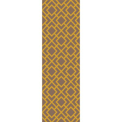 Berkeley Gold/Taupe Area Rug Rug Size: Runner 26 x 8