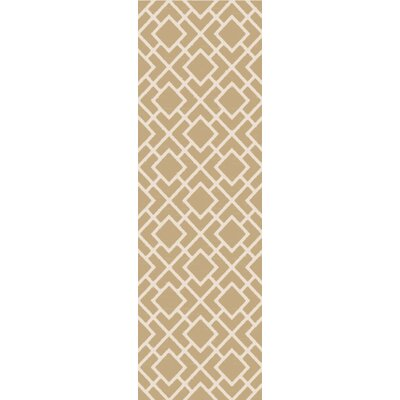 Berkeley Ivory/Beige Area Rug Rug Size: Rectangle 5 x 76