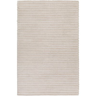 Vallejo Hand-Woven White Area Rug Rug size: Rectangle 4 x 6