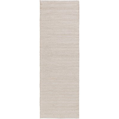 Vallejo Hand-Woven White Area Rug Rug size: Runner 26 x 8