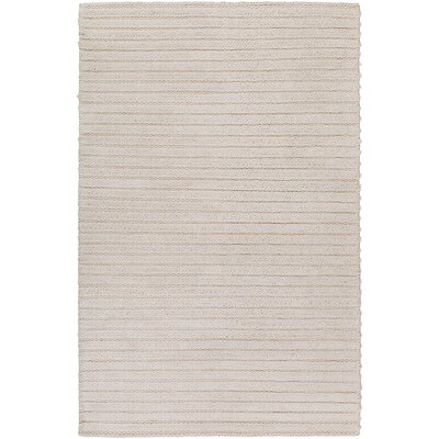 Vallejo Hand-Woven White Area Rug Rug size: 6 x 9
