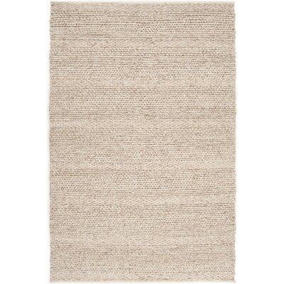 Pasadena Hand-Woven Khaki Area Rug Rug size: 3 x 5